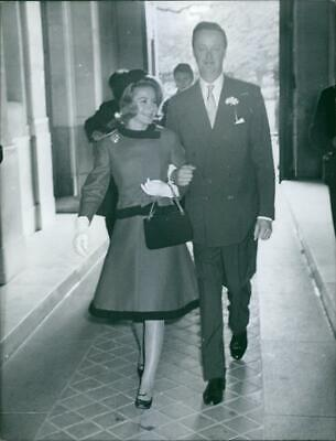$ CDN28.10 • Buy John Spencer-Churchill And Athina Livanos Walking, 1961. - Vintage Photograph