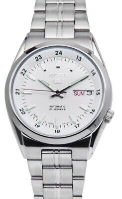 $ CDN136.24 • Buy Seiko 5 Automatic SNK559J1 White Dial Stainless Steel Men's Watch