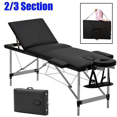 Folding Portable Massage Table Beauty Salon Tattoo Therapy Couch Bed Lightweight • 73.60£