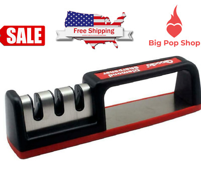 $9.55 • Buy NEW Professional Chef Kitchen Knife Sharpener System 3 Stage Manual Edge Diamond