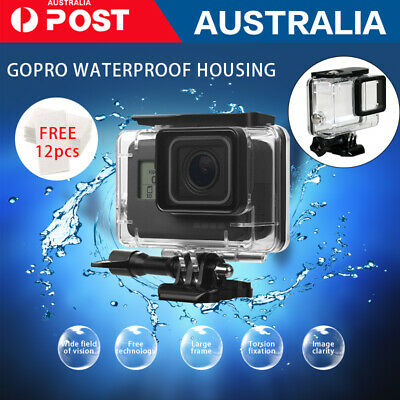 AU15.29 • Buy Waterproof Housing Case Clear Diving Protective GoPro Hero 8 7 6 5 Camera Filter