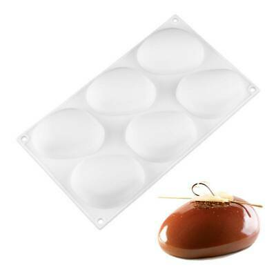 6 Cavitys Stone Shape Silicone Cake Mold Baking Mould Pastry Decorating Molds • 10.49£