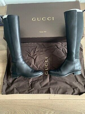 Womens Gucci Black Leather Boots Size 2/EU 35 • 275£