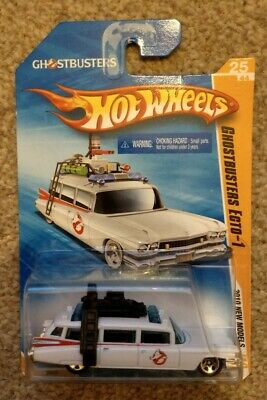 Vintage Mattel Hot Wheels GHOSTBUSTERS ECTO 1 2010 - Long Card Rare Edition • 19.95£