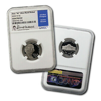 View Details 2020-W Jefferson Nickel Signed By Donna Weaver -- NGC Gem Proof • 49.00$