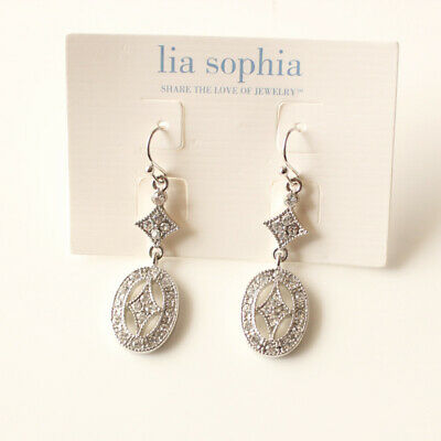 $ CDN6.66 • Buy New Lia Sophia Oval Drop Dangle Earrings Gift Fashion Lady Party Holiday Jewelry