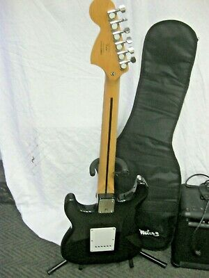 $245 • Buy Starcaster Fender 6 String Guitar With Gig Bag, Stand And Crate Amp