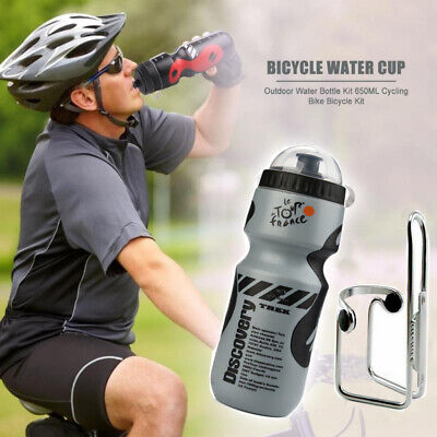 AU15.96 • Buy Bicycle Water Drink Bottle With Holder Cage Outdoor MTB Bike Cycling 750ml AU