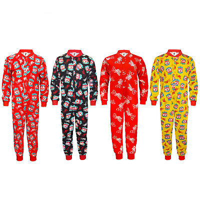 Liverpool FC Official Football Gift Boys Kids Pyjama All-In-One • 9.99£