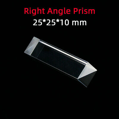 $9.20 • Buy 25 *25 *10 Right Angle Prism K9 Refraction Prism Optical Glass Reflective Prism