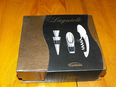 Trudeau Laguiole Corkscrew Combo Gift With Protective Case Model 0973042 (NIB) • 17.10£