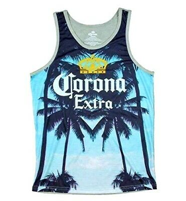 $10 • Buy Corona Wave Crown Sunset Sun Men's Tank Top T-shirt Tee Officially Licensed