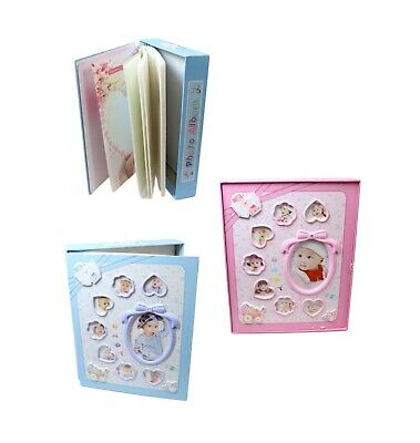 £7.99 • Buy New Born Boy Girl First Year Photo Album With Hard Back Picture Frame Scan Baby
