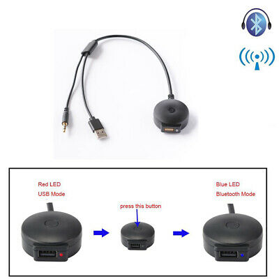 Car Bluetooth 4.0 Music Audio Adapter 3.5mm AUX USB Cable For BMW X1 X3 X4 X5 X6 • 8.99£
