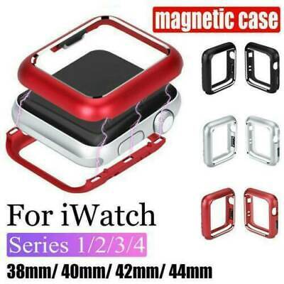 $ CDN5.44 • Buy For Apple Watch Series 5 4 3 2 Magnetic Metal Protective Case Cover 38mm-44mm