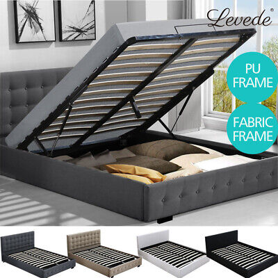 AU372.99 • Buy Levede Bed Frame Base With Storage Gas Lift Single Double Queen King Wooden Base