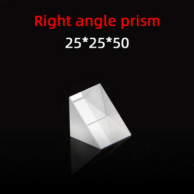 $13.70 • Buy 25 *25 *50 Right Angle Prism K9 Refraction Prism Optical Glass Reflective Prism