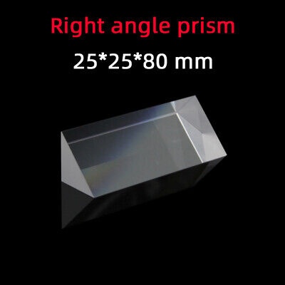 $18.50 • Buy 25 *25 *80 Right Angle Prism K9 Refraction Prism Optical Glass Reflective Prism