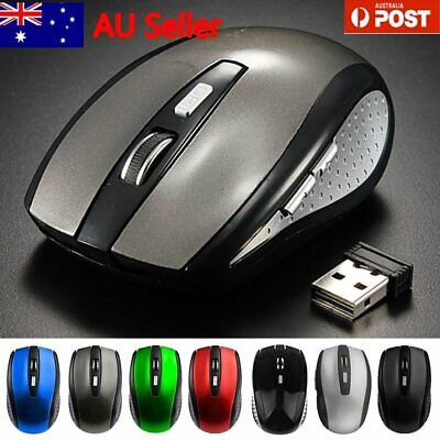 AU12.29 • Buy Bluetooth Wireless Rechargeable Mouse Optical Cordless Mice 1600 DPI For Windows