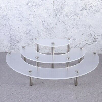 £10.68 • Buy 3 Tiers Acrylic Cupcakes Stand Cake Pastry Serving Platter Desserts Show Shelf