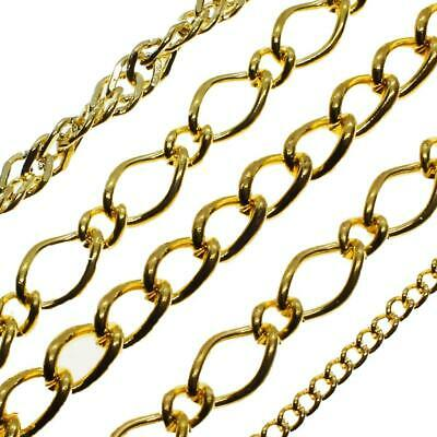 Jewellery Chains - Nickel Free - Rose Gold & Gold Plated - Sold By Metre • 1.35£