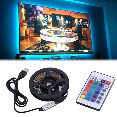 $5.99 • Buy USB Powered 5V RGB LED Strip Light Remote Control For Bar TV Background Lighting