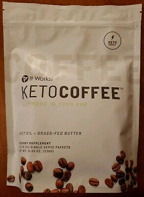 $41 • Buy It Works! Keto Coffee 15 Single (15.7 G) Packets NEW PACKAGING/SAME PRODUCT!