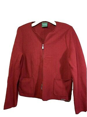 $29.99 • Buy GEIGER Collections Boiled Wool Two Way Zip Red Jacket Coat Sz 40