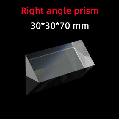 $20.60 • Buy 30 *30 *70 Right Angle Prism K9 Refraction Prism Optical Glass Reflective Prism