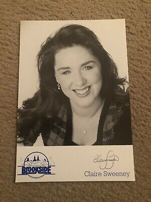 Claire Sweeney (brookside) Presigned Cast Card • 4£