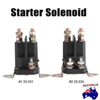 AU13.99 • Buy Ride On Mower Starter Solenoid Universal 3 Terminal 12 Volt Bottom Or Side Mount