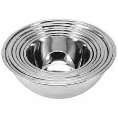 Stainless Steel Deep Mixing Salad Bowl Different Sizes Salad Bakeware Dough Set • 7.49£