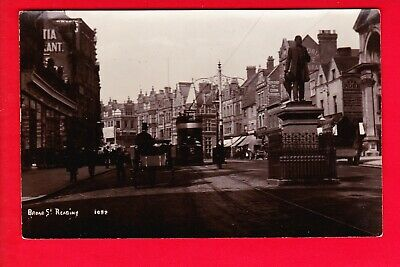 Postcard - READING Broad Street - Posted 1905 - RP - Corn Stores ROSE PUB Tram • 3.20£