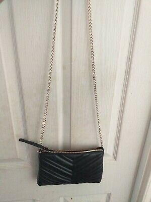 Black Chain Cross Body Shoulder Bag Quilted  • 10£