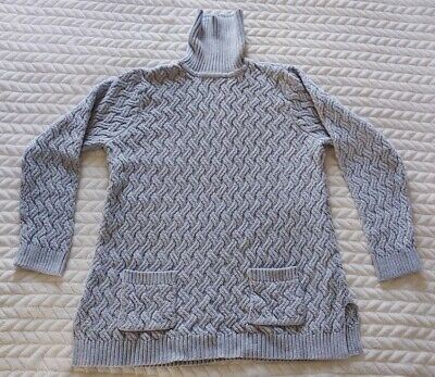 $9.99 • Buy Jeanne Pierre Cable Knit Turtle Neck Sweater With Front Pockets XL