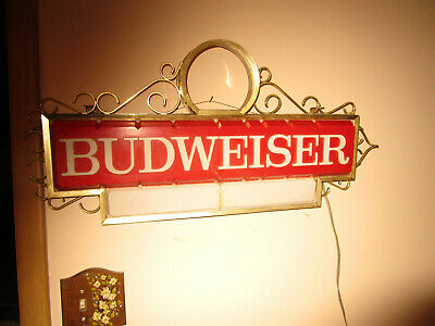 $ CDN90.16 • Buy BUDWEISER ANHEUSER Beer Lighted Bar Sign  33x15  Double Lights 006-110-67 1967