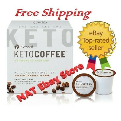 $45 • Buy It Works Keto Coffee Pods Salted Caramel Flavor Exp 07/2020 Free Shipping