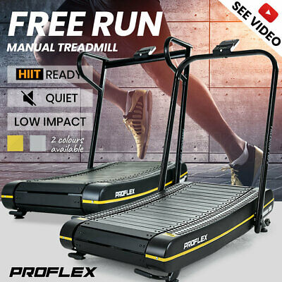 AU719 • Buy PROFLEX Manual Treadmill Curved Belt Motorless Powerless Non Electric Motorised