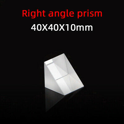$11.60 • Buy 40 *40 *10 Right Angle Prism K9 Refraction Prism Optical Glass Reflective Prism