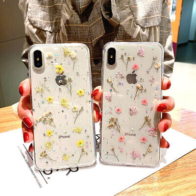 AU6.25 • Buy For IPhone 11 Pro XS Max XR X 8 7 Case Real Dried Flowers Clear Soft Cover Girls