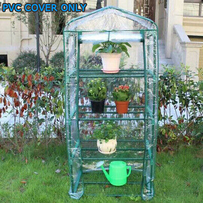 4-Tier Greenhouse Bag Small Garden Plant Grow House Cover Clear PVC Growbag Box • 11.38£