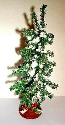 $ CDN14.52 • Buy Artificial Christmas Tree SNOW COVERED Flocked 13  Vintage Holiday Table Decor