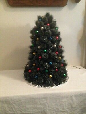 $ CDN33.01 • Buy Vintage Thistle Decorated Christmas Tree Touched With Snow 15 High