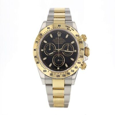 $ CDN19668.54 • Buy With Papers 2013 Rolex Daytona Two Tone Black 40 Mm Automatic Watch 116523 Mint
