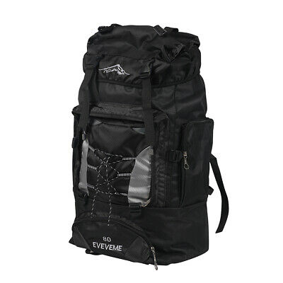AU25.99 • Buy Military Tactical Backpack Hiking Camping Bag Rucksack Outdoor Trekking Black