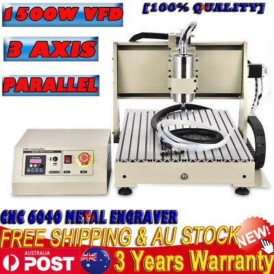 AU1204 • Buy 3 Axis Cnc 6040 Router Engraver Drilling Woodwork Machine Carving 1500w Spindle