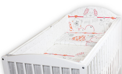 £36.99 • Buy BABY 6PC BEDDING SET PILLOW DUVET  ALLROUND FIT COT 120x60 Zoo Red