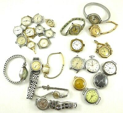$ CDN60 • Buy Lot Of 26 Vintage Lady's Watches (1930-1960) Arsa Governor Ciny Opera Huguenin