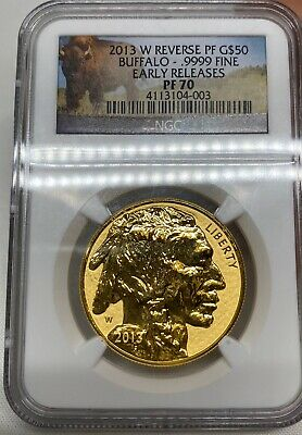 $2589.99 • Buy 2013-W $50 GOLD BUFFALO REVERSE PROOF NGC PF70 EARLY RELEASES ER 100th Anni