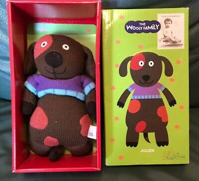 Julian Grannimals Latitude Enfantwith Box Cute Knitted Cuddly Toy Woolly Family • 5.99£